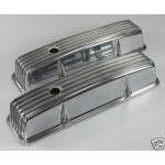 CHEVY SBC HOTROD DEEP FINNED 4 BOLT VALVE COVERS